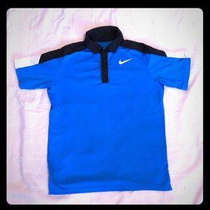 Nike DRI-FIT boys blue polo